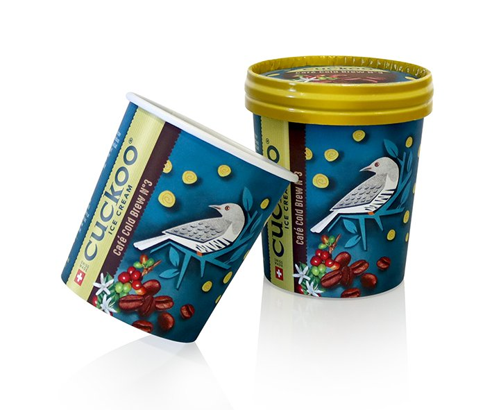 worldstar packaging award winner Cardbox Packaging with Cuckoo Ice Cream